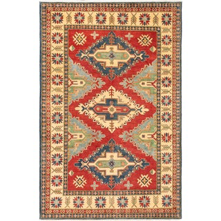 ecarpetgallery Finest Gazni Blue and Brown Wool Rug (7'0 x 10'7)