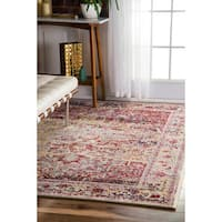 nuLOOM Vintage Ornate Persian Medallion Light Pink Rug (5'3 x 7'9)