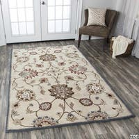 Rizzy Home Valintino Collection Blue/ Beige Area Rug (9' x 12') - 9' x 12'
