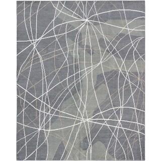 ecarpetgallery Joshua Grey Cotton Rug (7'11 x 9'11)