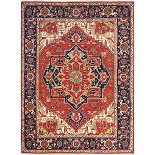 ecarpetgallery Serapi Heritage Brown Wool Rug (8'8 x 11'9)