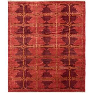 ecarpetgallery Peshawar Ziegler Brown Wool Rug (8'3 x 9'10)