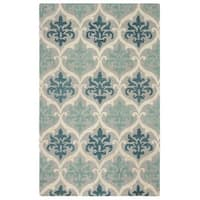 Rizzy Home Lancaster Collection Hand-tufted Blue Trellis Area Rug (8' x 10') - 8' x 10'
