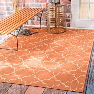nuLOOM Star Trellis Indoor/ Outdoor Brick Porch Rug (6'3 x 9'2)