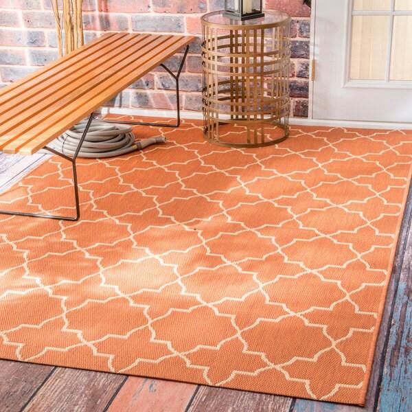Nuloom Gina Outdoor Moroccan Trellis Polypropylene Patio: Shop NuLOOM Star Trellis Indoor/ Outdoor Brick Porch Rug