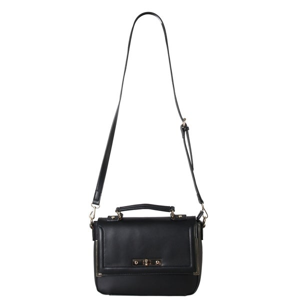 Diophy Faux Leather Structured Snakeskin Texture Turn-lock Crossbody Satchel. Opens flyout.
