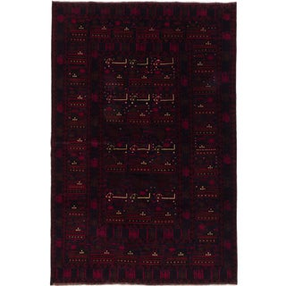 ecarpetgallery Finest Rizbaft Blue and Red Wool Rug (6'8 x 10'0)