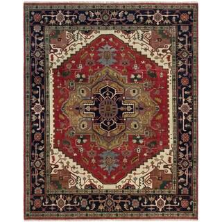 ecarpetgallery Serapi Heritage Red Wool Rug (7'11 x 9'8)