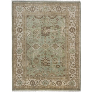 ecarpetgallery Royal Ushak Green Wool Rug (7'11 x 10'5)
