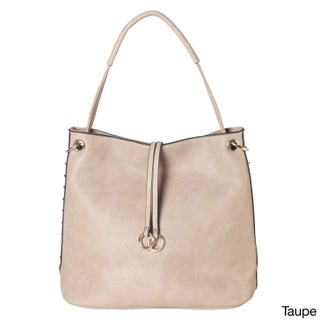 Diophy Gold-toned Studded Hobo Handbag (2 options available)