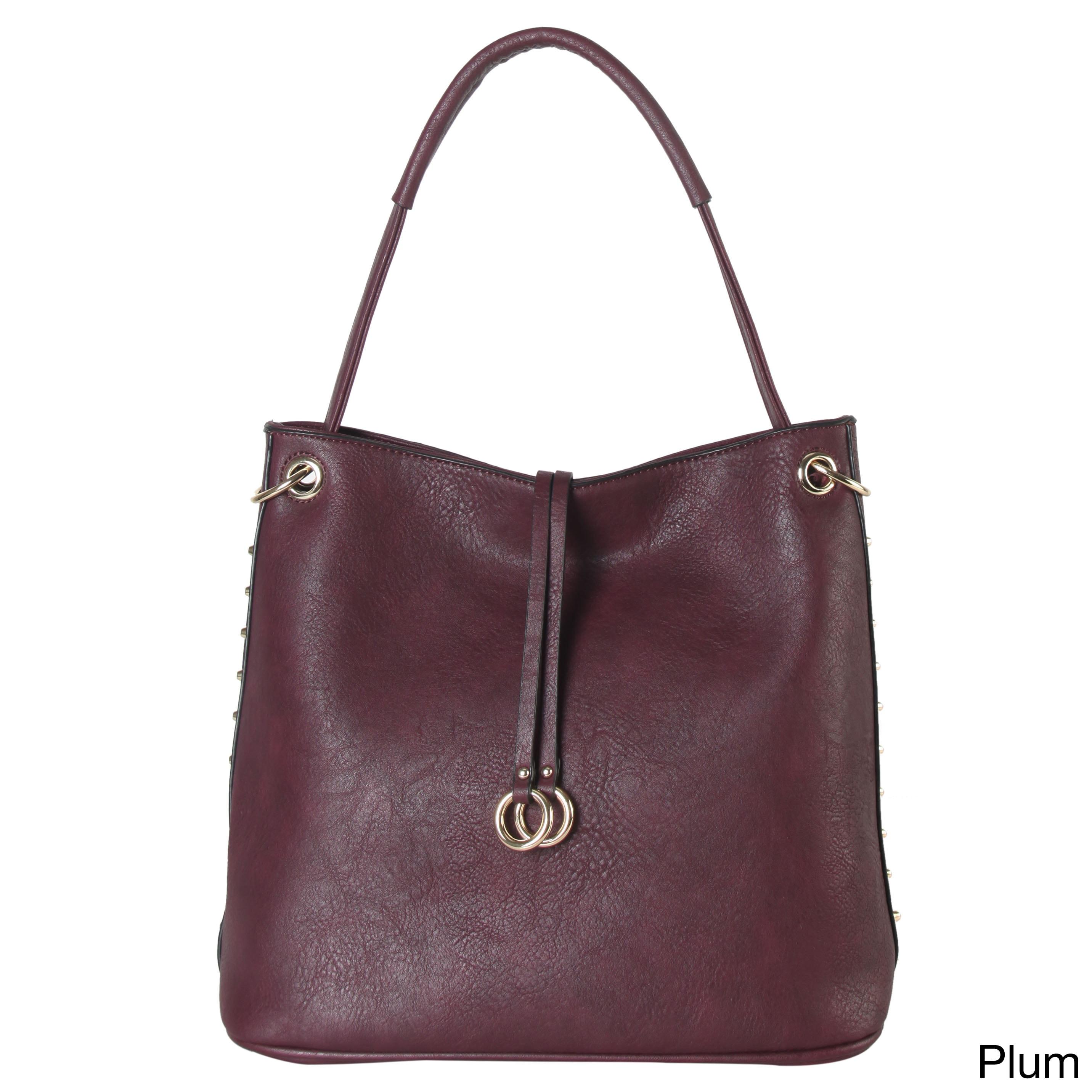 Designer SYLVIEE Cut Out Detail Leather Shopper Bag Taupe Shoulder HandBag Tote