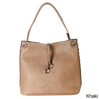 Diophy Gold-toned Studded Hobo Handbag
