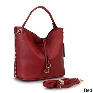 Diophy Studded Hobo Handbag