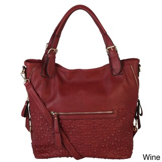 Diophy Bubble Surface Double Side Zippers Hobo Handbag (3 options available)