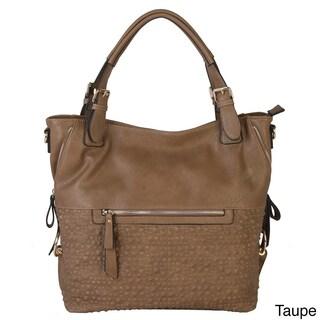 Diophy Bubble Surface Double Side Zippers Hobo Handbag (Option: Tan)