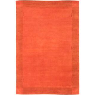 ecarpetgallery Kathmandu Brown Wool Rug (6'7 x 9'11)
