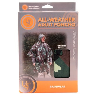 Ultimate Survival Technologies Camo Adult All-Weather Poncho