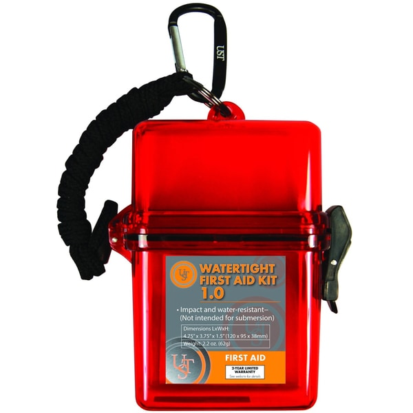 Ultimate Survival Technologies Red Watertight First Aid Kit 1.0