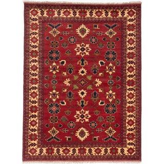 ecarpetgallery Finest Kargahi Brown Wool Rug (7'2 x 9'7)