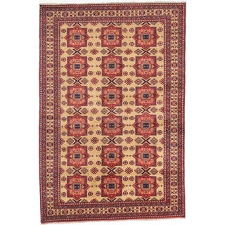 ecarpetgallery Finest Kargahi Beige Wool Rug (6'10 x 10'2)