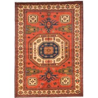ecarpetgallery Finest Kargahi Brown Wool Rug (7'0 x 9'9)