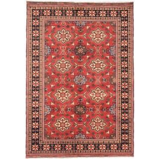 ecarpetgallery Finest Kargahi Brown Wool Rug (7'0 x 10'2)