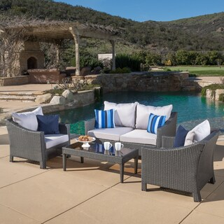 Oliver & James Moses 4-piece Outdoor Chat Set (3 options available)