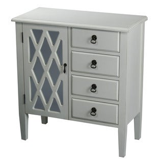Heather Ann 4-drawer, Single Glass Door Wood Cabinet