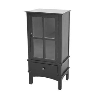 Cabinet with 1 Drawer and 1 Door with Glass Insert