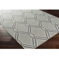 """Hand Woven Blossom Wool Area Rug - 5' x 7'6"""""""