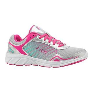 Women's Fila Gamble Running Shoe Metallic Silver/Pink Glow/Cockatoo (More options available)