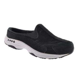 Women's Easy Spirit Traveltime Slip-on Black/Black Suede