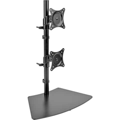 "Tripp Lite Dual Vertical Flat-Screen Desk Mount Monitor Stand Clamp Swivel Tilt 15"" to 27"" Flat Screen Displays"