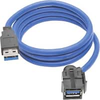 Tripp Lite 3ft USB 3.0 Superspeed Keystone Jack Type-A Extension Cabl