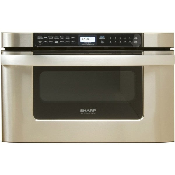 Sharp Insight Pro Series Built-In Microwave Drawer 24 inc In Stainless steel (As Is Item)