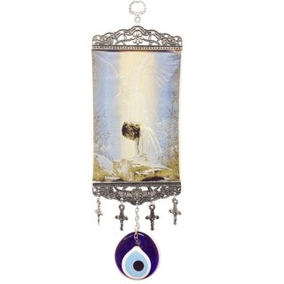 Crystal Florida Handmade Evil Eye Wall Tapestry Religious Kilim Rug