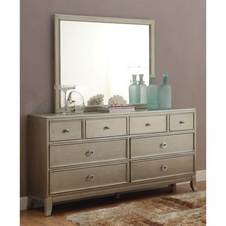 Furniture of America Estevia Contemporary Silver Grey 2-piece Dresser and Mirror Set