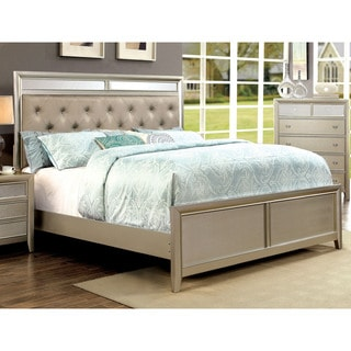 Merria Contemporary Silver Tufted Bed by FOA