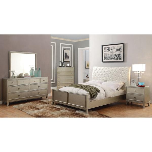 Furniture Of America Estevia Contemporary 4 Piece Silver