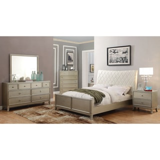 Furniture of America Estevia Contemporary 4-piece Silver Grey Bedroom Set