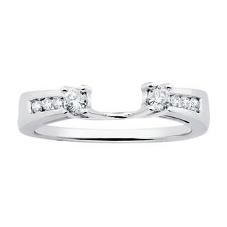 Boston Bay Diamonds 14k White Gold 1/4ct TDW Diamond Bridal Wrap (H-I, SI1-SI2)