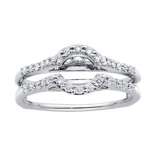 Boston Bay Diamonds 14k White Gold 1/3ct TDW Diamond Bridal Wrap (More options available)
