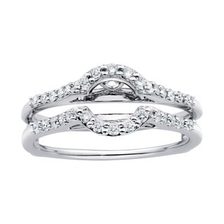 Boston Bay Diamonds 14k White Gold 1/3ct TDW Diamond Bridal Wrap
