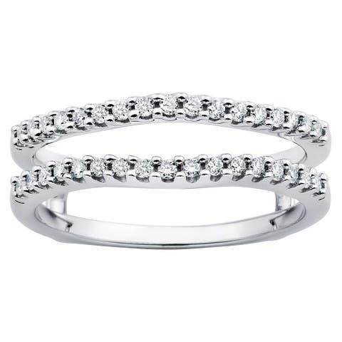Boston Bay Diamonds Ladies 14k White Gold 1/4ct TDW Diamond Bridal Insert