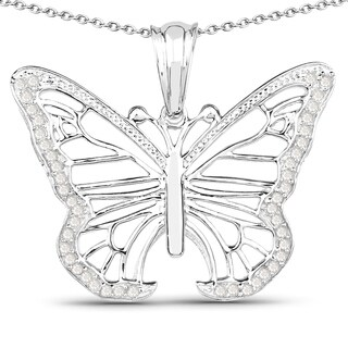 Olivia Leone Sterling Silver 1/3ct TDW Diamond Butterfly Pendant|https://ak1.ostkcdn.com/images/products/11137203/P18136829.jpg?_ostk_perf_=percv&impolicy=medium