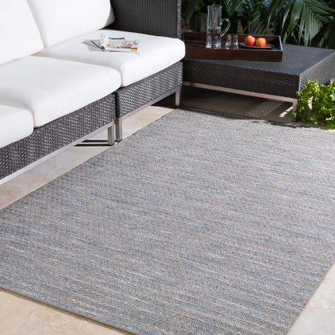 Vickie Subtle Stripes Outdoor Area Rug