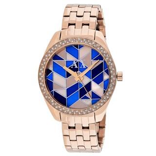 Armani Exchange Women's AX5528 Serena Round Silver Stainless Steel Bracelet Watch