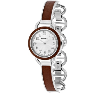 Coach Women's 14502111 Dree Round Two-tone Stainless Steel Bracelet Watch