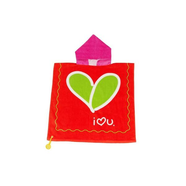 Kids Hooded Towel & Bag Love