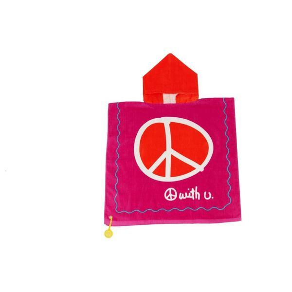 Kids Hooded Towel & Bag Peace